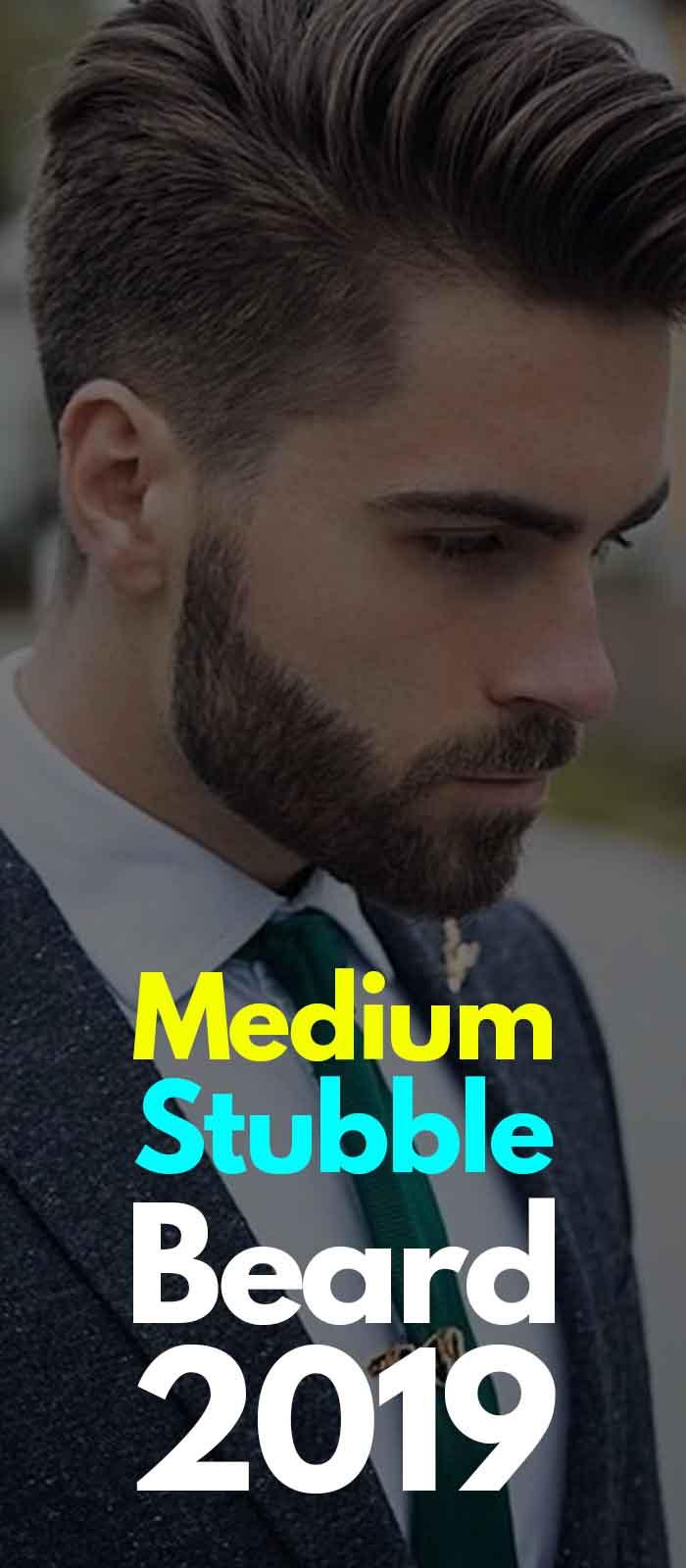 Suit Look for men with Medium Stubble beard!