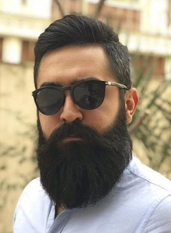 Thick long beard style for men