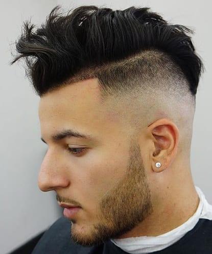 Undercut Haircuts Messy with beard