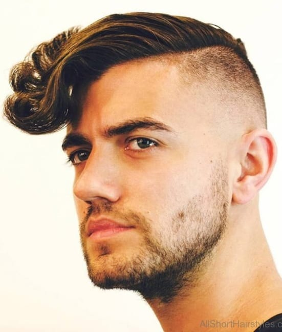 Wavy Undercut Hairstyle for Funky Look for men