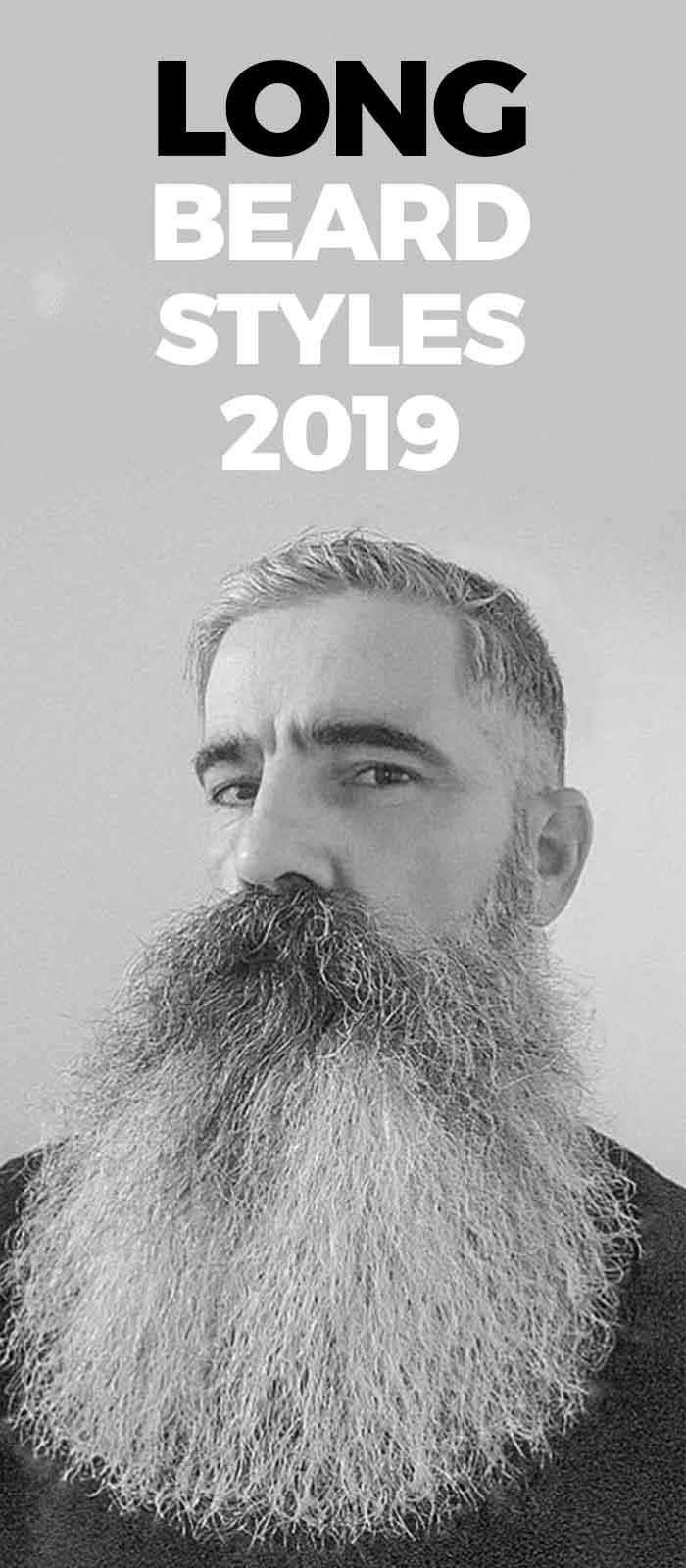 White long beard style for old men!