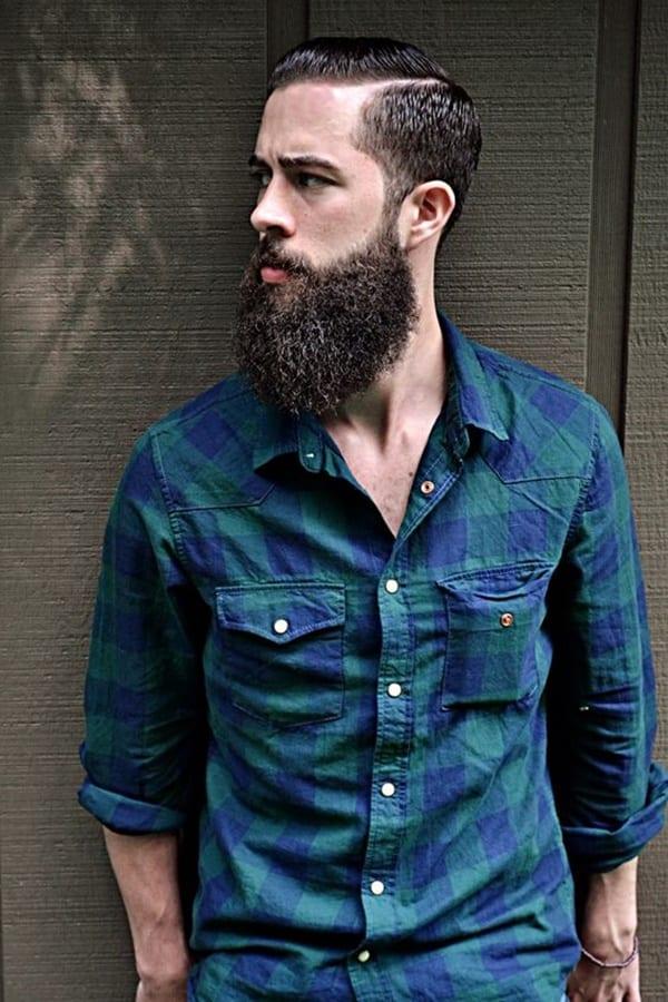 bandholz-beard-with-blue-cheks-shirt