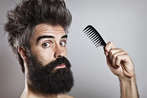 beard-care-combing-bearded-men