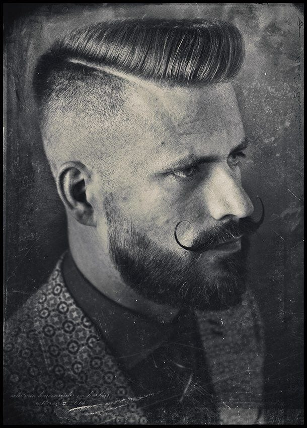 combed-hair-moustache-style-black-and-white-image