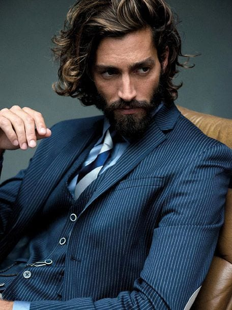 curly-hair-with-blue-blazer