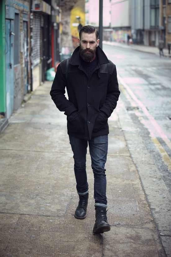 full-beard-with-simple-hairstyle