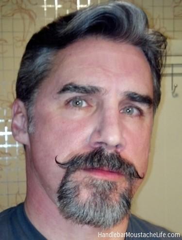 goatee handlebar moustache bearded men