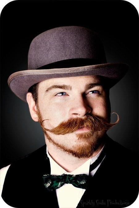 gunslinger stylish moustache bearded look