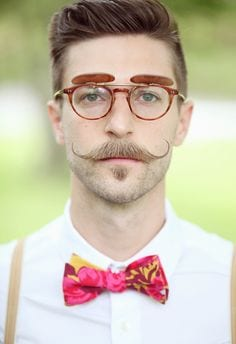 handlebar moustache men stylish