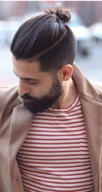 long-top-knot-with-beard