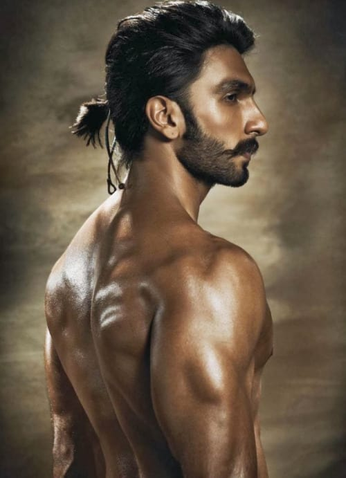 pony-tail-with-stubble-beard-and-moustache