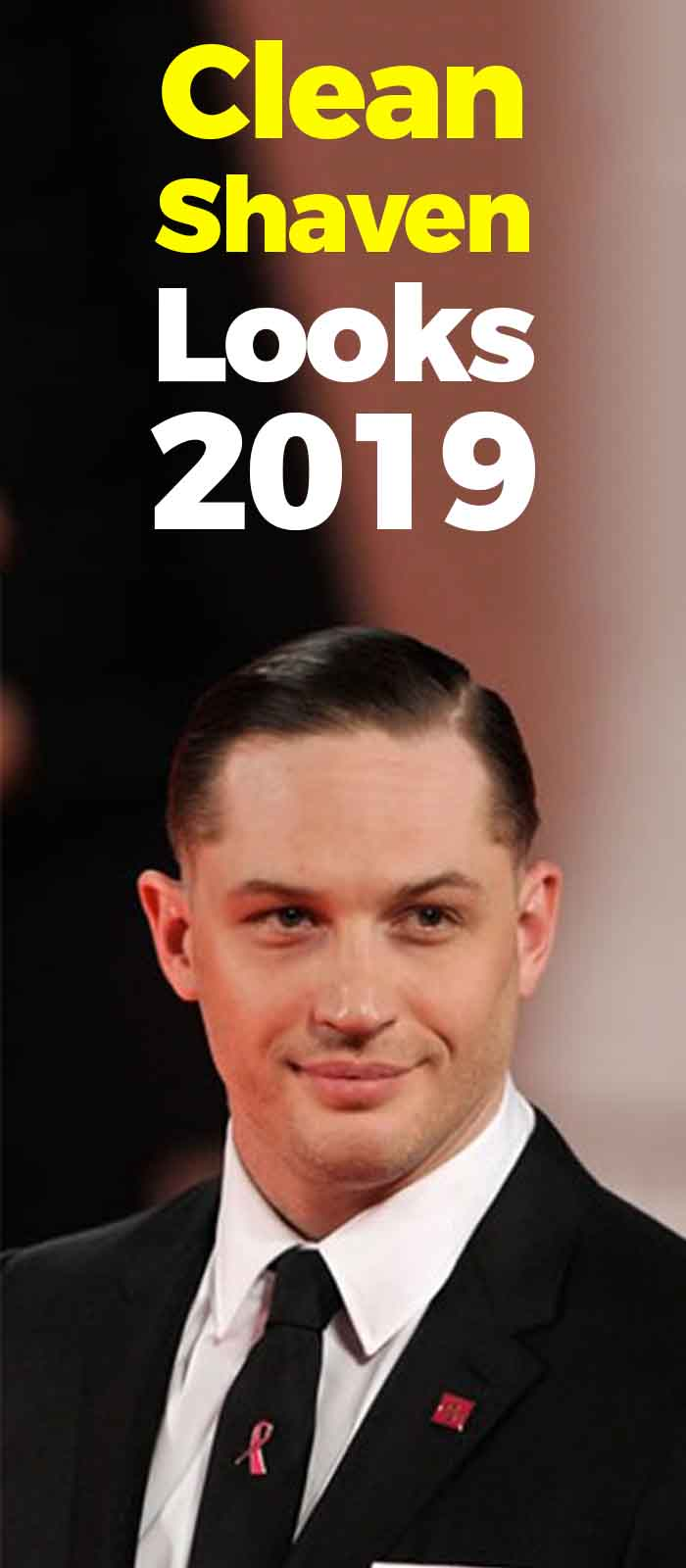 tom hardy clean shaved face look!