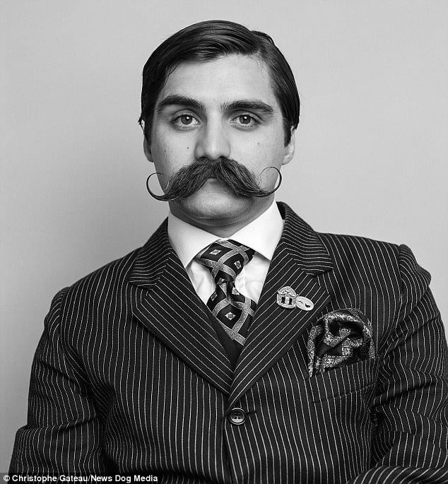 vintage tycoon thick moustache