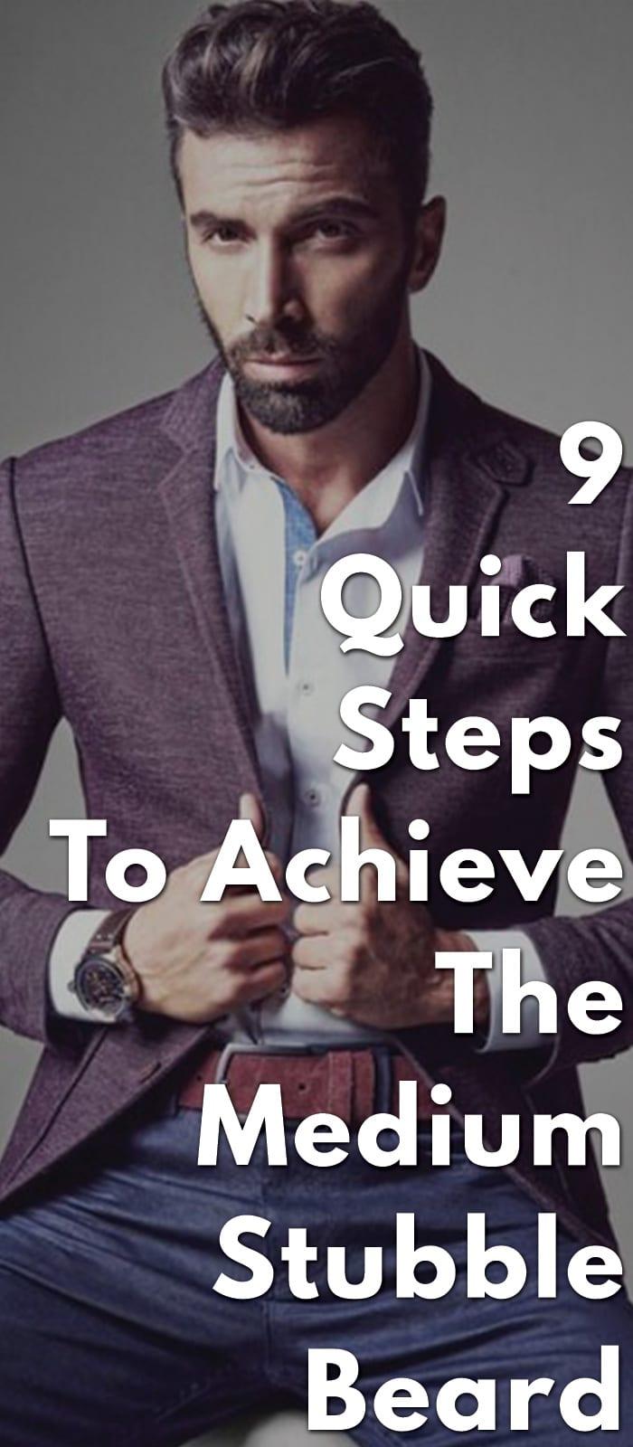 9-Quick-Steps-To-Achieve-The-Medium-Stubble-Beard.