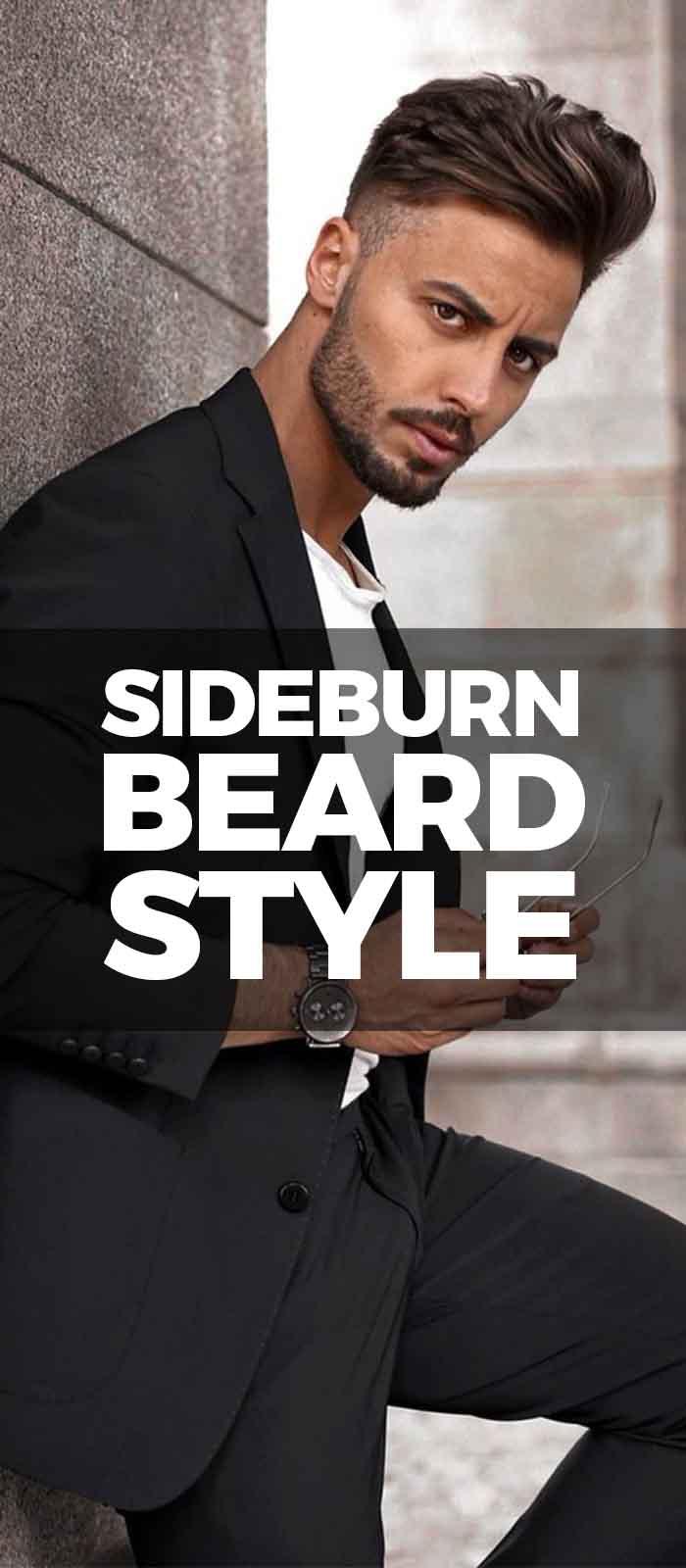 Black Suit,Sideburn For men!
