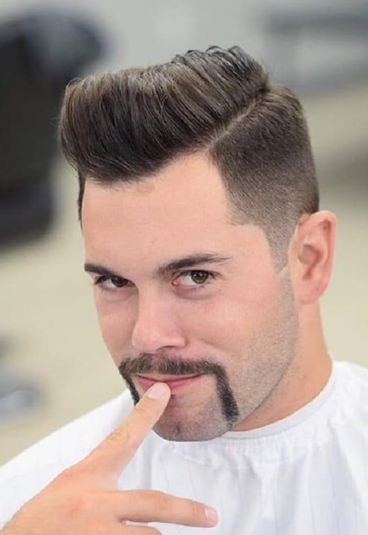 Horseshoe-Mustache-with-Pompadour