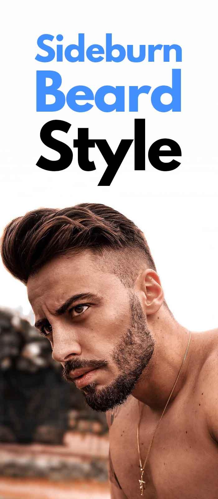 Sexy Sideburn Beard look for men!