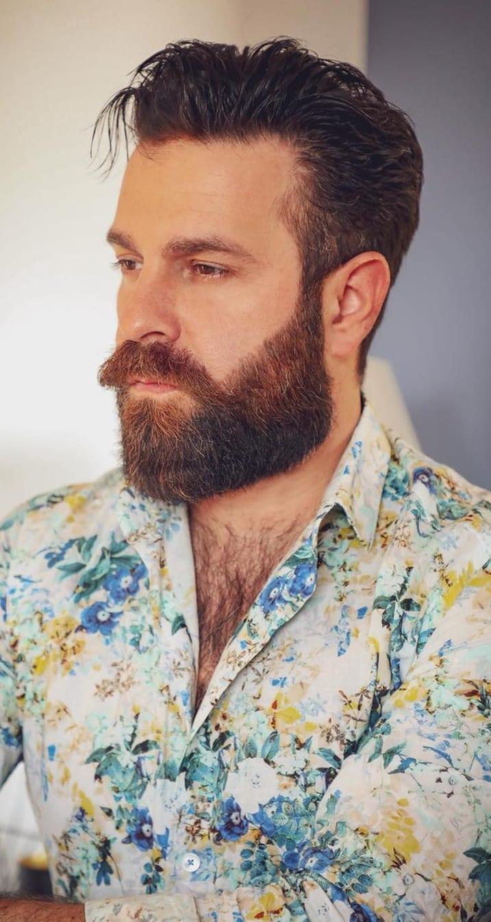 Coloured Medium beard for men