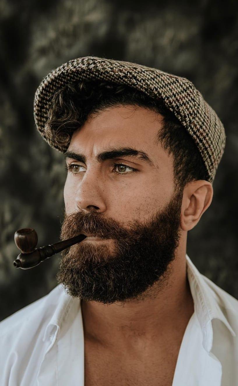 Medium beard for men