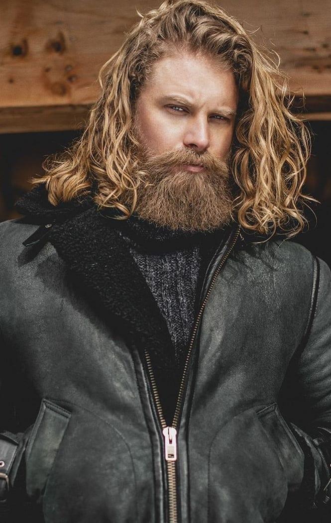 Long Hair Hot Beard trend for Men